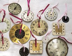 Clock Faces  (ornaments clocks neat idea recycling upcycling useful) Find everything you need to create your own version of this at The Sleepy Poet!