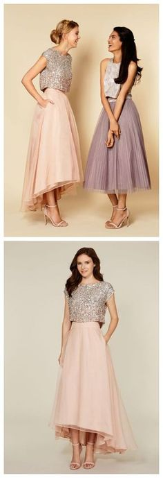 Bridesmaid Prom Dresses,Tea Length Prom Dresses, Party Prom Dresses, Vintage…