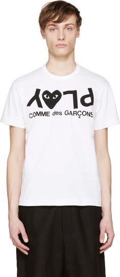 Comme des Garçons Play White & Black Logo T-Shirt