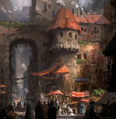 Ideas Medieval Concept Art Fantasy Character Design For 2019 Concept Art World, Fantasy Concept Art, Environment Concept Art, Environment Design, Fantasy Artwork, Fantasy City, Fantasy Places, Fantasy Kunst, Fantasy World