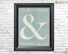 Personalized Gift for Couples Wedding Love Wall Art, Ampersand Art Print, Newlywed Engagement Housewarming Gift for Husband Wife Art on Etsy, $18.96 AUD
