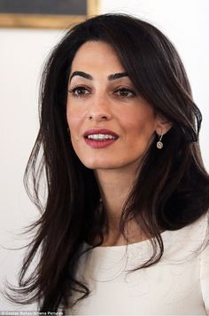 Just add this to the list of reasons why Amal Clooney took home the top honor in Barbara Walters' annual 10 Most Fascinating People of 2014 special. The London-based lawyer, who just so happens to be married to Hollywood heartthrob George Clooney,. Amal Clooney, George Clooney, Camila Morrone, Shakira, Looks Style, Mannequins, Girl Crushes, Role Models, Hair Inspiration