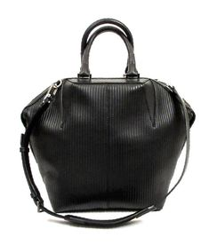 1ed34cd85d7d ALEXANDER WANG BLACK RIBBED LEATHER LARGE 'EMILE' CONVERTIBLE TOTE-NEW |  eBay Alexander