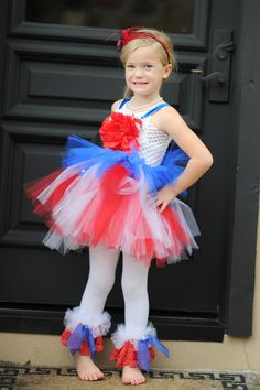 How cute is this? Little Bunny Tutus NEW Couture 4th of July Tutu Dress - Perfect 4 Pageants, Perade or Photos. $49.99, via Etsy.