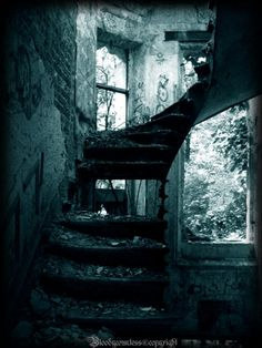 Stairs in crumbles . .