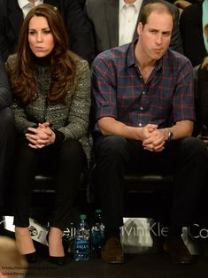 duchesskate:  Cambridges Visit to USA, December 8, 2014-The Duke and Duchess of Cambridge with the same facial expression
