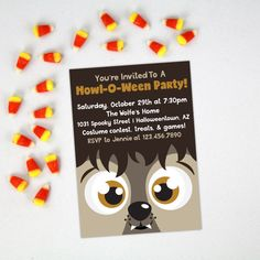 Halloween Party Invitation  Howl-O-Ween Werewolf by AlluringPrints