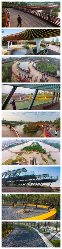 Water resilient terrain and plantings are designed to adapt to the monsoon floods in Yanweizhou Park in Jinhua City, Zhejiang Province, China. Click image for link to full profile and visit the slowottawa.ca boards >> https://www.pinterest.com/slowottawa/?z=1