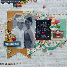 """Jodi Baune July Main kit """"I Heart Summer"""" collection by Simple Stories 2013"""