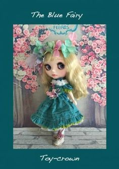Toy-crown: Custom Blythe The Blue Fairy  Buy her here:   #blythe #blythedolls #kawaii #cute #rinkya #japan #collectibles #neoblythe #customblythe