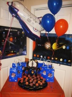My son had a Space Party for his 6th birthday. This page features all of our Space party supplies plus lots more Space party fun!    You will find...