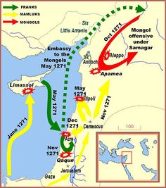 Edward I Crusade Map. This Day in History: Apr 08, 1271: In Syria, sultan Baybars conquers the Krak of Chevaliers. http://dingeengoete.blogspot.com/