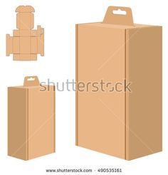 Packaging Box for Brown Paper isolated on white background.