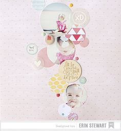 Layout inspiration created by @erinstewrt using our Dear Lizzy #Daydreamer Collection. #americancrafts
