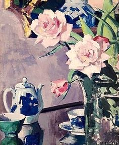 Francis Campbell Boileau Cadell (Scottish, 1883-1937) Roses