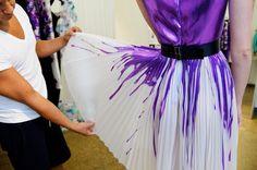 drip painted dress