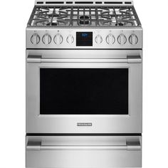Frigidaire Professional 30-in 5-Burner Freestanding 5.1-cu ft Convection Gas Range (Smudge-Proof Stainless Steel)