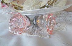add some vintage crystal door knobs to your florals or bouquet Crystal Door Knobs, Glass Door Knobs, Vintage Door Knobs, Vintage Holiday, Pink Brown, Drawer Pulls, Rose Buds, Girl Room, Vintage Pink
