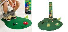 Mini Golf Set for toilet, for endless o … – Table Ideas Mini Golf Set, Office Table, Holiday Decor