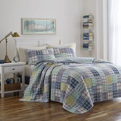Seaside Madras!  So fresh with a mix of sea glass blue & white!