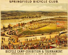 Items similar to 1883 Springfield, MA Bicycle Club Bicycle Camp- Digitally Remastered Fine Art Print / Poster on Etsy Vintage Advertising Posters, Vintage Advertisements, Vintage Posters, Springfield Massachusetts, Hampden Park, Alternate History, Cycling Art, By Train, Thats The Way