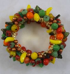 Cornucopia Cha Cha Bracelet and Earrings with by RedsArtJewelry, $115.00