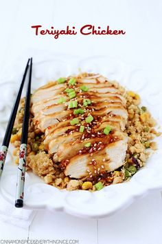 Teriyaki Chicken with Pineapple Fried Cauliflower Rice