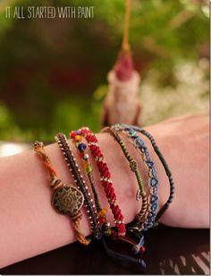 Handmade bracelets - perfect gift idea for teen girl