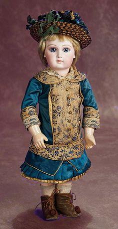 15-inch Portrait Jumeau doll.  Louis-Desire Belton and Pierre-François Jumeau. # poupée