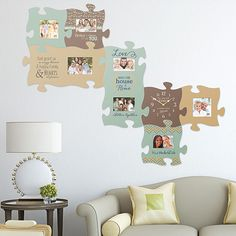 Graham Dunn event on zulily today! Puzzle Piece Picture Frames, Puzzle Frame, Gallery Wall Frames, Frames On Wall, Love Home, Home Living Room, Rv Living, Puzzle Pieces, Bed Design