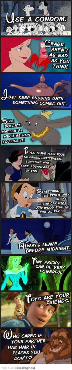 Life lessons from Disney. Except the crab part. I'm pretty sure they are worse than what you think.