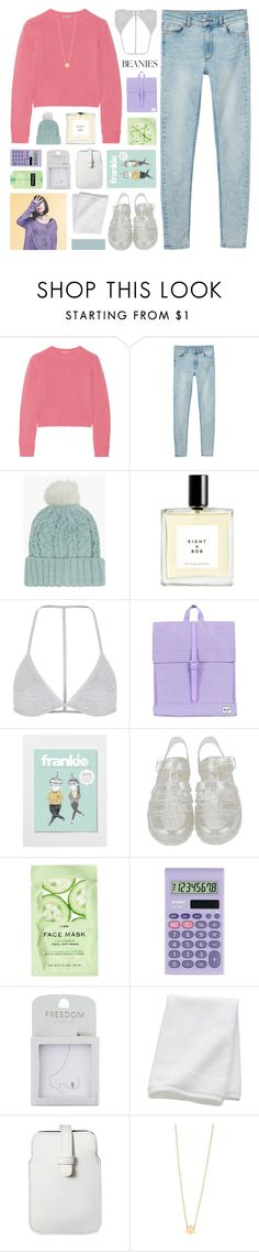 """do i look lonely?"" by hhuricane ❤ liked on Polyvore featuring Miu Miu, Monki, Pink Soda, Eight & Bob, Topshop, Herschel Supply Co., H&M, Casio, CB2 and Mossimo"