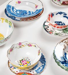 "Nothing beats a gorgeous homeware update with the changing of the seasons. Refined by hand and produced in Tangshan, the renowned ""capital of Bone China""; the Seletti Hybrid range is sure to capture the imagination. Design Tradicional, Design Oriental, Kartell, Ceramic Tableware, Kitchenware, Modern Ceramics, Dezeen, China Patterns, Bone China"