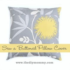 Sew a buttoned pillow cover by 4ringsn1