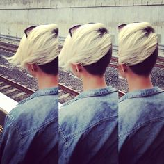 Love it! Full undercut and peroxide blonde.. amazing