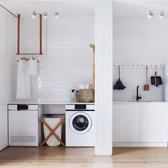 LAUNDRY GOALS ;) When a functional space is a beautiful space @whitingarchitects…