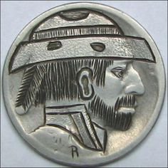 RUTH BORM HOBO NICKEL - WORN OUT WILLIE - 1920 BUFFALO PROFILE Hobo Nickel, Making Out, Buffalo, Coins, Carving, Personalized Items, Profile, Art, User Profile