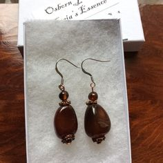 Excited to share the latest addition to my shop: Agate Copper Earrings, Natural Agate Gemstones, Gift for Mom, Natural Jewelry, Handmade in USA by Osborn Jewelry featuring Gaia's Essence Emerald Earrings, Copper Earrings, Sterling Silver Earrings Studs, Natural Jewelry, Fine Jewelry, Jewelry Making, Agate Jewelry, Agate Gemstone, Stone Beads