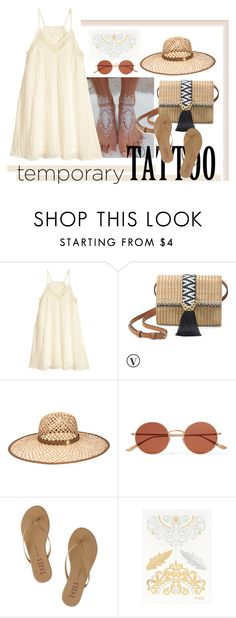 """Bez naslova #380"" by m-jelic ❤ liked on Polyvore featuring beauty, H&M, Stella & Dot, Henri Bendel, Oliver Peoples, Tkees and temporarytattoo"