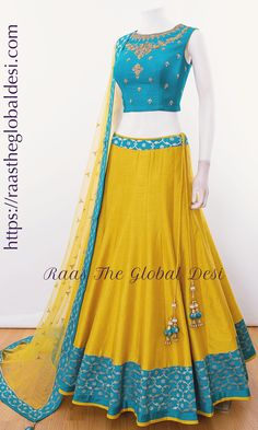 choli-Raas The Global Desi-[wedding_lehengas]-[indian_dresses]-[gown_dress]-[indian_clothes]-[chaniya_cholis] Half Saree Designs, Choli Designs, Lehenga Designs, Blouse Designs, Dress Designs, Lehnga Dress, Lehenga Gown, Lehenga Blouse, Banarasi Lehenga