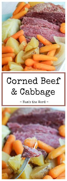Crock Pot Corned Beef & Cabbage is the traditional St. Patrick's Day food. This recipe is super easy and tastes delicious. Plus it makes for great leftovers! Crockpot Cabbage Recipes, Easy Crockpot Chicken, Corned Beef Recipes, Vegetarian Crockpot Recipes, Healthy Chicken Recipes, Crock Pot Corned Beef And Cabbage Recipe, Easy Recipes, Crockpot Meals, Recipes Dinner