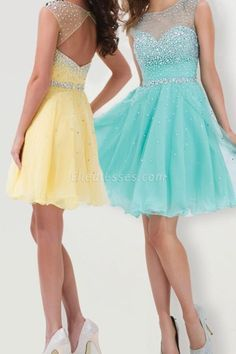 Picture As Mini A-line Color Homecoming Dress