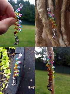 Beaded Dreadlock / Hair Coil, Custom Colours And Charm. $7.00, via Etsy.