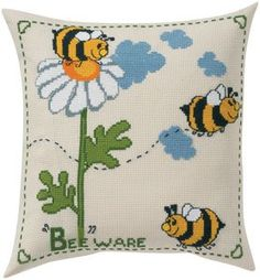 BEE WARE PILLOW - Counted Cross Stitch Kit