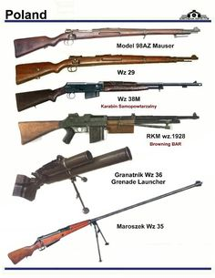 Invasion Of Poland, Poland Ww2, Ww2 Weapons, Revolver, Military Drawings, Battle Rifle, Military Training, Concept Weapons, Fire Powers