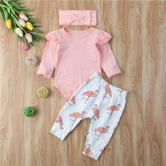 £4.99 GBP - Cuteborn Baby Girl Clothes Fly Sleeve Romper Top+Pants Leggings Outfitsset #ebay #Home & Garden