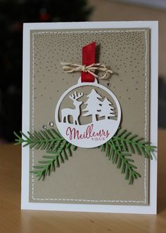 Christmas Cards To Make, Xmas Cards, Christmas Ornaments, Diy Hacks, Stampin Up, Card Making, Creations, Gift Wrapping, Scrapbooking