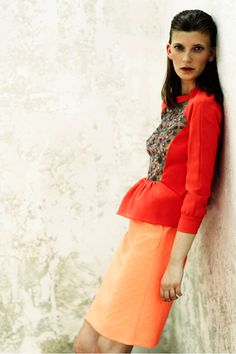 Love the orange palette. Preen Resort '13