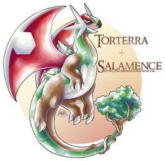 Salamence X Torterra by Seoxys6.deviantart.com on @DeviantArt