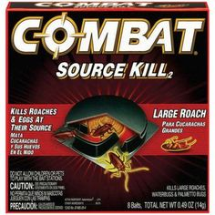 Combat® Large Roaches Roach Killing Bait Stations 8 ct Box